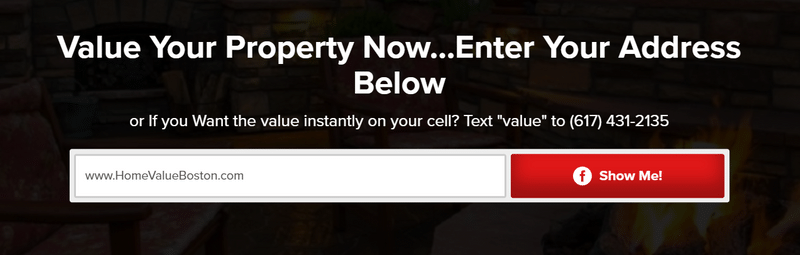 image requesting people to get the value of your property