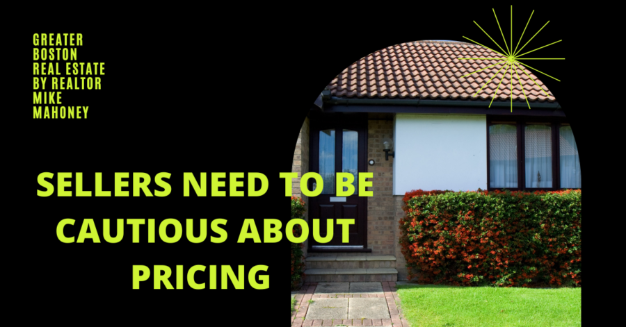"""Picture of a house with the caption """"Sellers need to be cautious about pricing their home in the Fall market"""""""