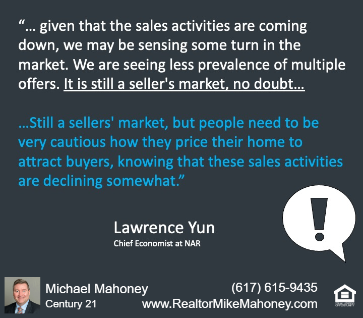 A quote from Lawrence Yun of National Association of Realtors